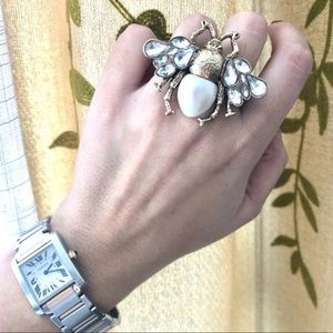 Double finger Bee Ring